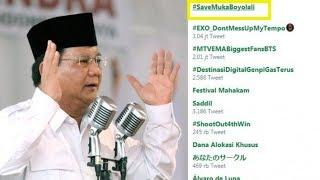 """Viral Video Prabowo Pidato Sebut """"Tampang Boyolali"""", Tagar #SaveMukaBoyolali Trending di Twitter"""