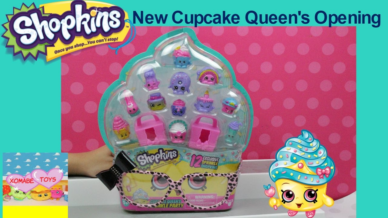 Shopkins Cupcake Queens Sprinkle Party Collection Pack Opening