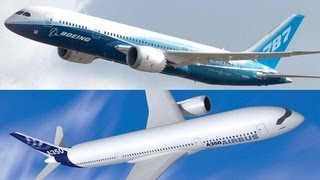 Airbus A350 vs Boeing 787 Dreamliner / first real video