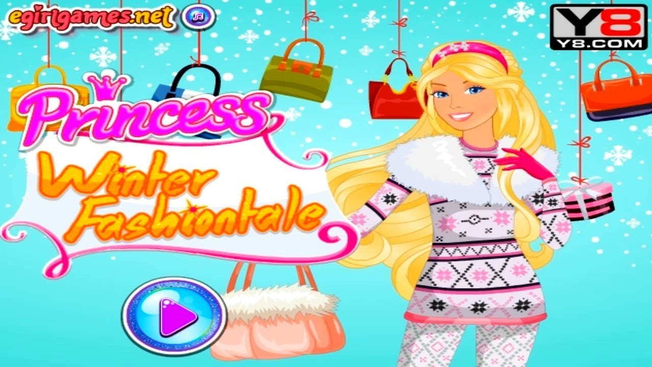 Games For Girl Princess Winter Fashion Tale Dress Up | Kids Games Online  Videos