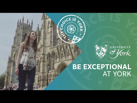 Undergraduate study at York: Be exceptional