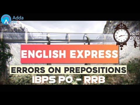 Errors Based On Prepositions | English for SSC CGL Tier-II 2017