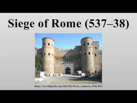 Siege of Rome (537–38)