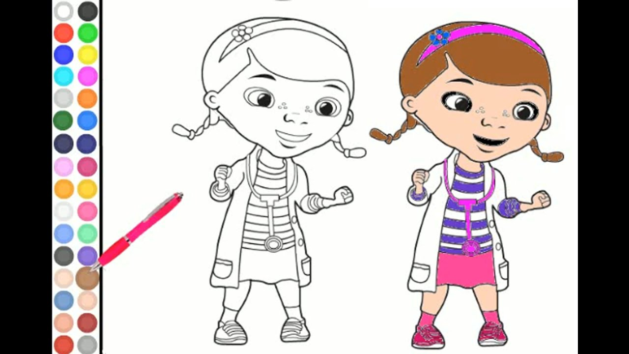 doc mcstuffins coloring fun coloring for kids toddlers children
