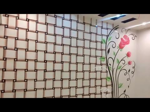 How to dye wall painting design? 3D Design. Bedroom paint ...