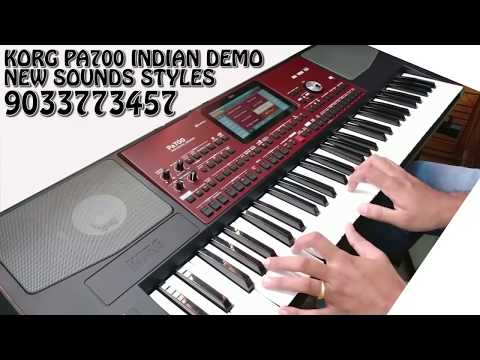 Korg pa700 indepth demo new indian tones