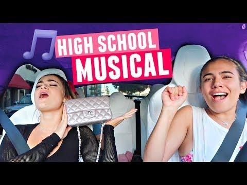 CARPOOL KARAOKE WITH ADELAINE AND CLOE! High School Musical Edition