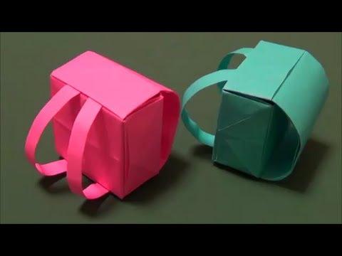 "達?息達?続達??達?損達?束達??巽束?辰遜?脱??達??巽卒?""Backpack"" origami - YouTube"