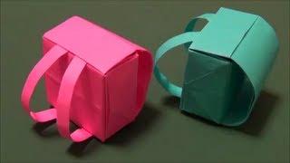 「ランドセル」立体折り紙