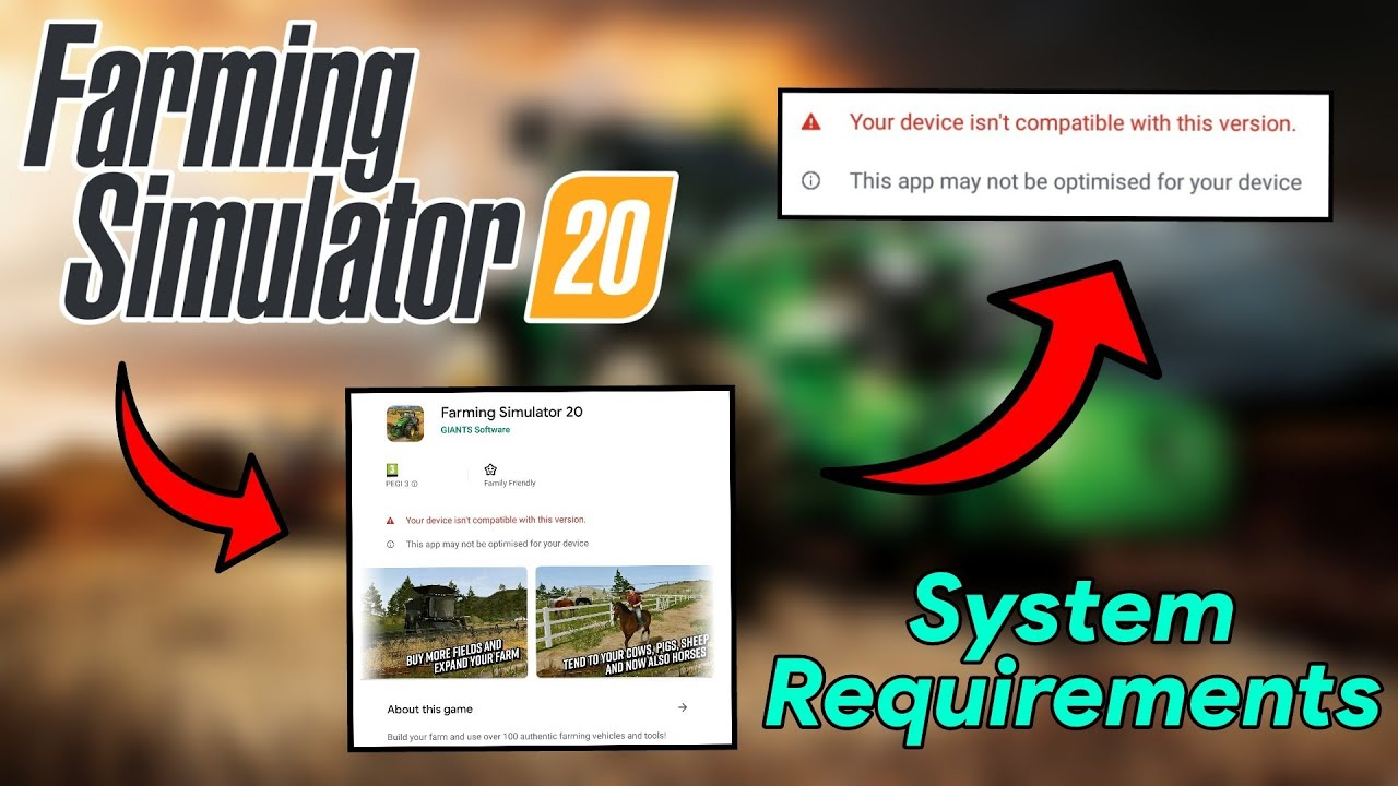Farming Simulator 20 System Requirements For Download Fs 20 Android Ios Youtube