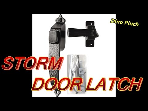 Install Or Replace A Storm Door Latch Video Youtube