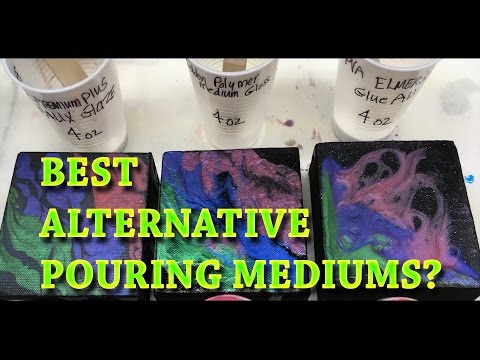 3 BEST Alternative Pouring Mediums for Fluid Acrylic Paintings? Experiment