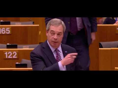 Nigel Farage gets trolled in the European Parliament