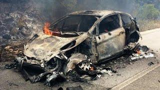 ALERTE POMPIER - Accident - Explosion d'un vehicule civil