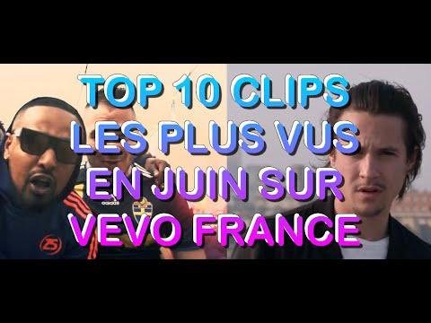 TOP 10 CLIPS les plus vus sur VEVO France Juin