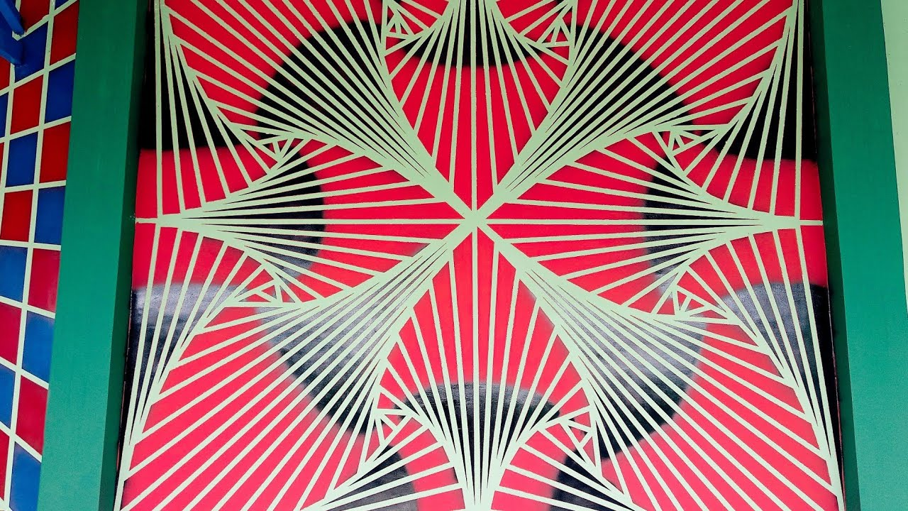 Wall Painting Masking Tape Simple Design
