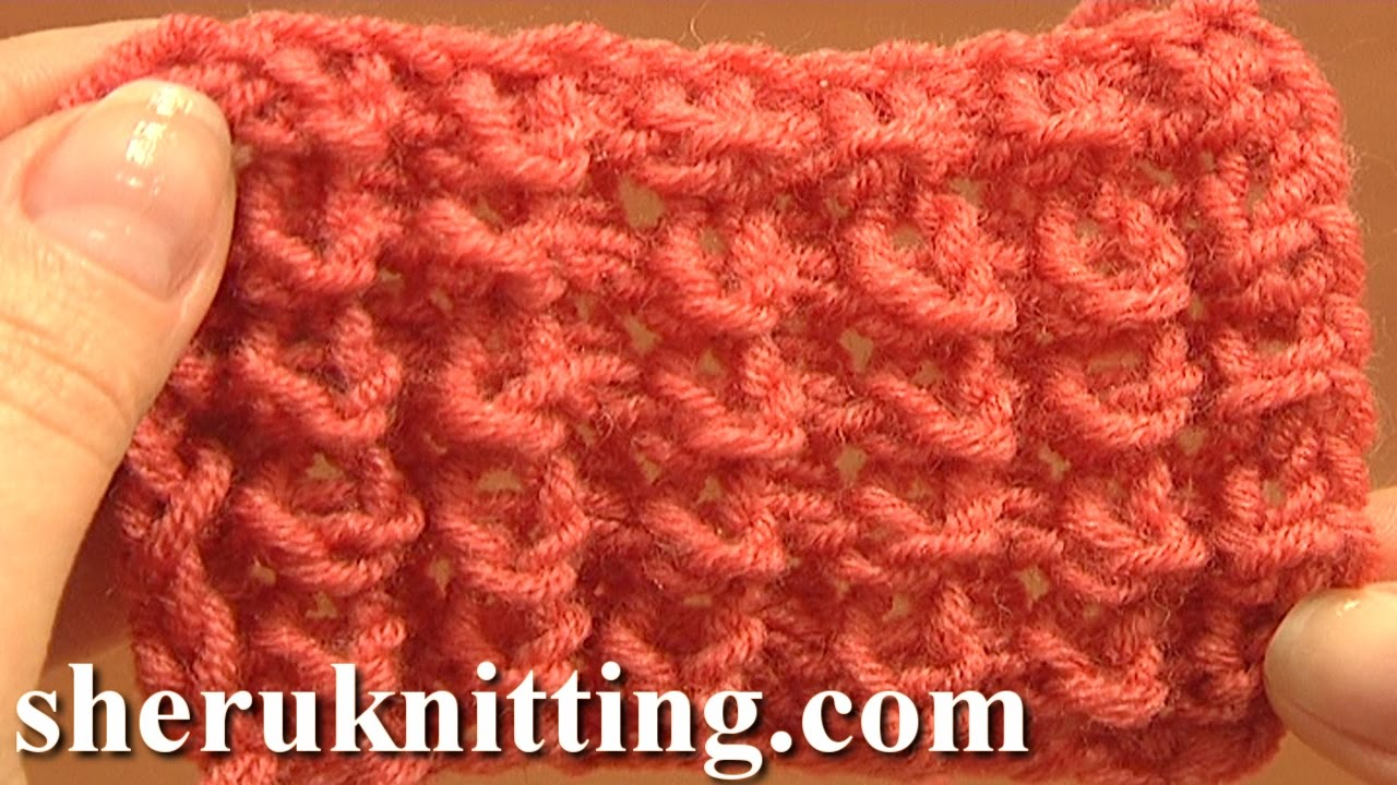 Knot Stitch Pattern Knitting Tutorial 1 Easy to Knit Stitch Pattern ...