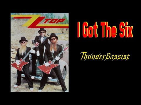 I Got The Six - ZZ Top, free style bass cover