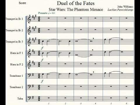 Star Wars Ep. I: 'Duel of the Fates' - Brass Octet