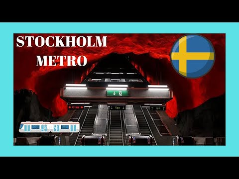 STOCKHOLM, a tour of the city's magnificent METRO (subway, underground), SWEDEN