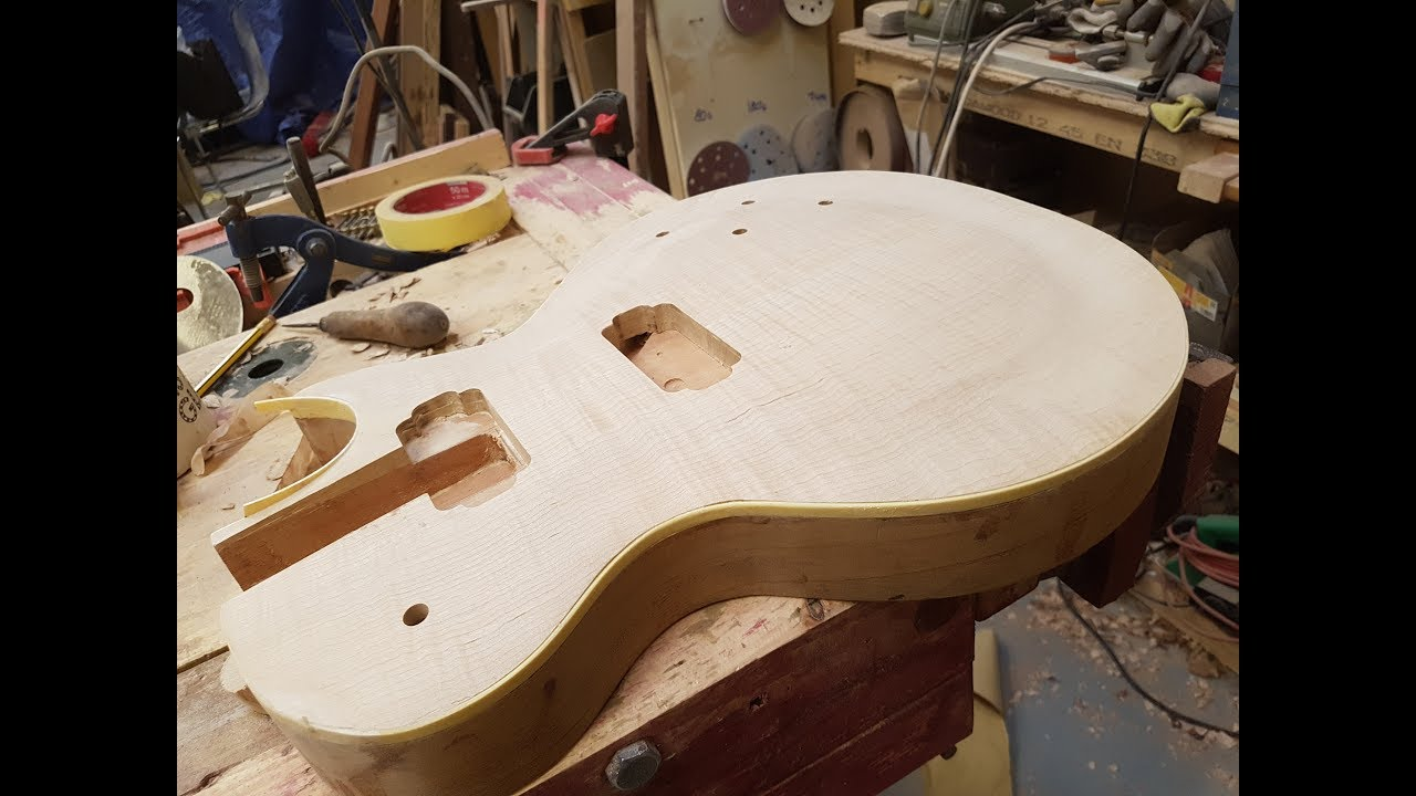 how to build a les paul style guitar part 2 neck angle to body joint youtube. Black Bedroom Furniture Sets. Home Design Ideas
