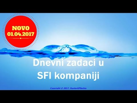 Dnevni zadaci u SFI kompaniji - NOVO 2017
