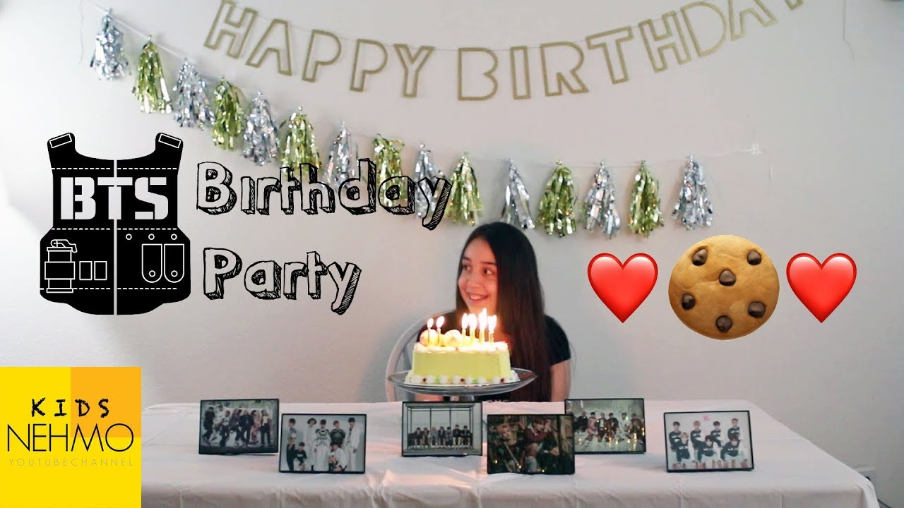 Ciaras Bts Birthday Party Youtube