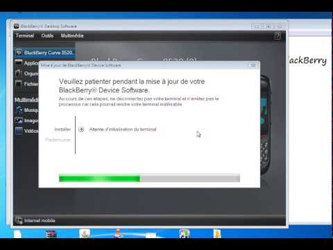 Firmware BlackBerry Curve 8520 avec BlackBerry Desktop Software