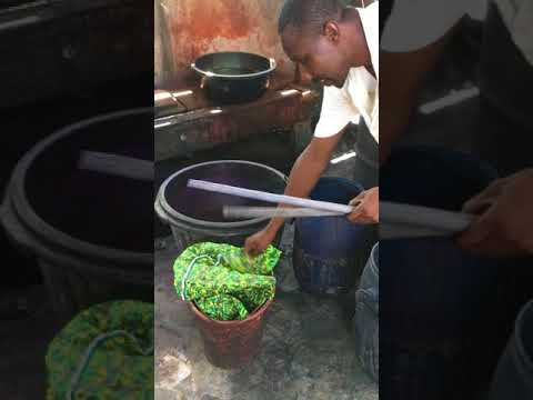 How to Remove Wax from Fabric in the Batik Making Process in Ghana, West Africa