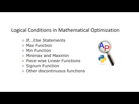 Logical Conditions in Mathematical Optimization