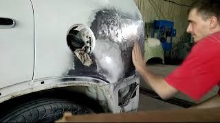 KIA Sorento. кузовной ремонт. рихталау қанаты