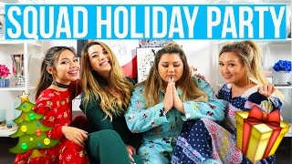 SQUAD HOLIDAY PARTY!! Vlogmas Day 16