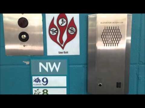 Interesting & CRAZY Otis Series 7 Traction Elevator G7 at Ala Moana Center Parking, Honoluul HI