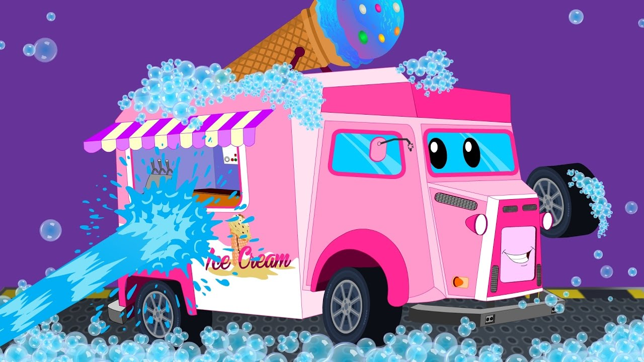 Food Van | Car Wash | Childrens Cartoon | Street Vehicles | Video For Kids