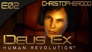 Deus Ex: Human Revolution [BLIND] - E02 - Flying on the 800BEE (Gameplay Walkthrough)