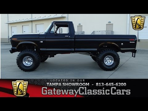 750 TPA 1976 Ford F100 Custom 360 CID V8 4 Speed Manual