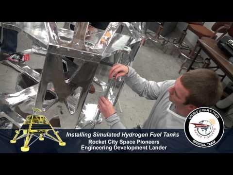 RCSP Engineering Development Lander Build Part 10 - Installing Simulated Hydrogen Fuel Tanks