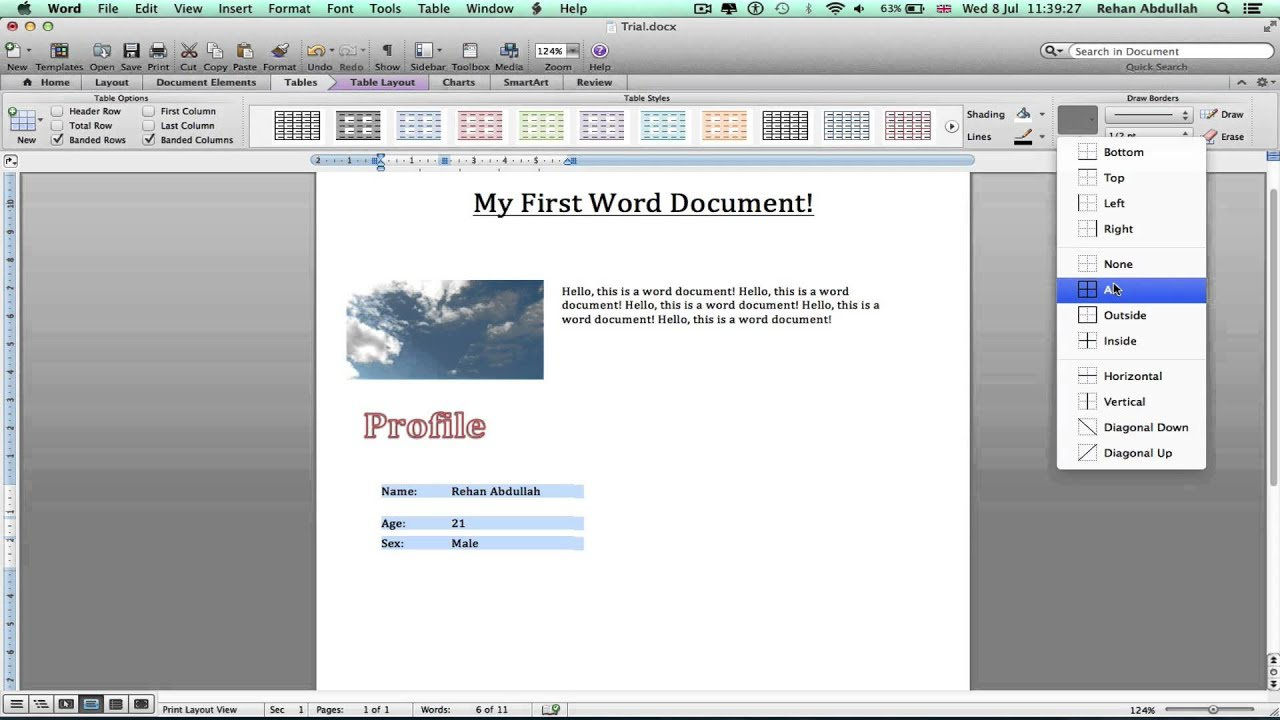 Mac Office: How to Use Microsoft Word // Basic Tutorial {2015 ...