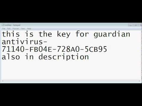 guardian antivirus renewal code free