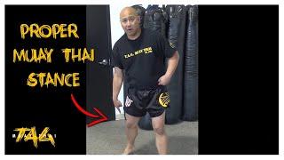 proper muay thai stance with kru chris aboy