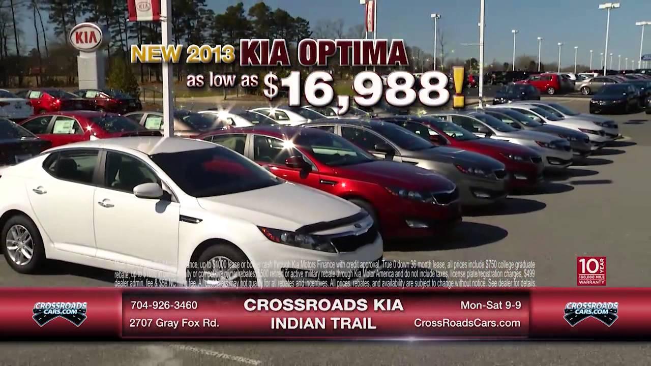 Crossroads Kia Indian Trail Optima Forte 6 7 13 Youtube