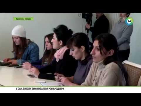 Жители Гюмри прощаются с убитой семьей Аветисян