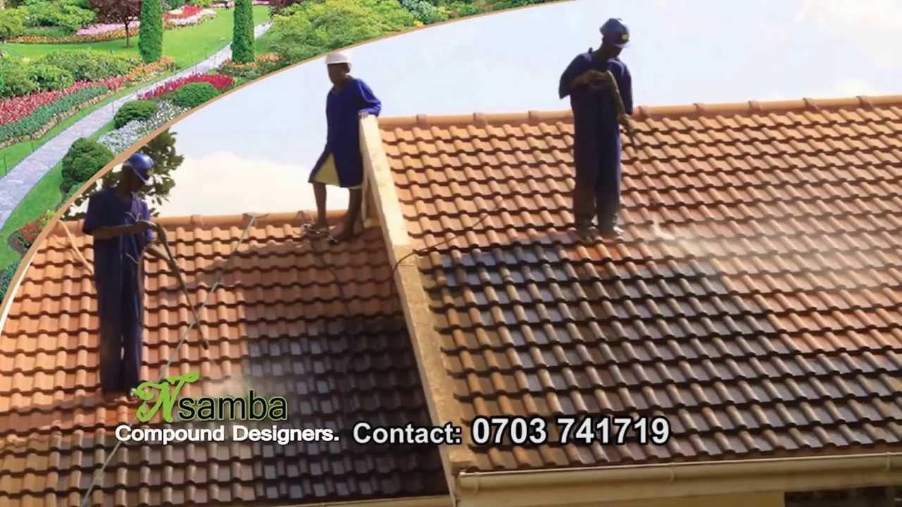 Nsamba Roof Tile Cleaners In Uganda Youtube