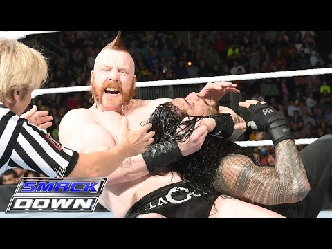 Reigns Vs. Sheamus, Barrett, Rusev & Del Rio – 4-on-1 Handicap Match: SmackDown – 3. Dezember 2015