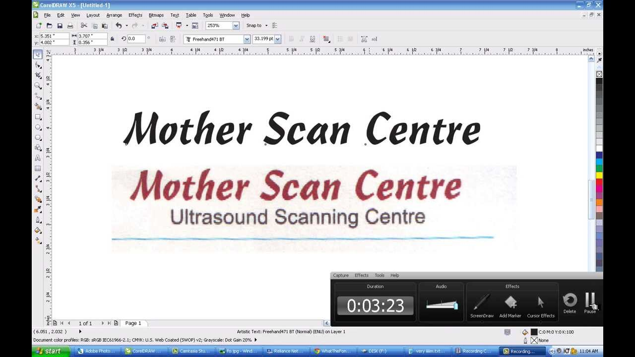 how to make text in coreldraw