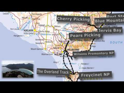 Australia -  Road Trip - Traveling Map - Backpacker