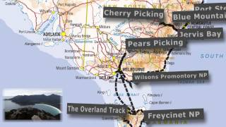 Australia -  Road Trip - Traveling Map - Backpacker