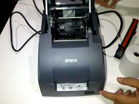 Pemasangan Kertas Dan Cartridge Printer Kasir Epson Tmu220 Series