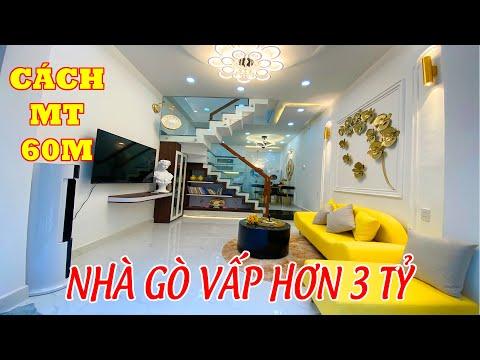 BÁN NHÀ GÒ VẤP 3 TỶ  Một căn nhà đẹp chỉ cách mặt tiền Quang Trung 60m FULL nội thất giá hơn 3 tỷ