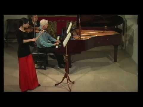 Savitri Grier & Francis Grier play Ravel Violin Sonata